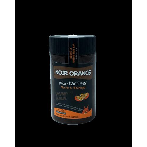 Pâte à tartiner Noir orange sans huile de palme