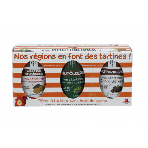 Coffret 3 Tartines de France