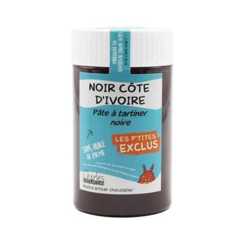 Pâte à tartiner NOIR CÔTE D'IVOIRE 280gr sans huile de palme
