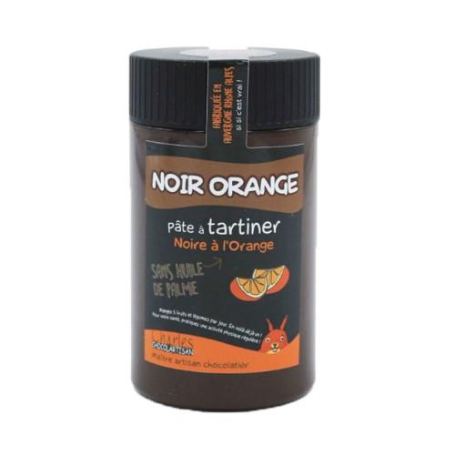 Pâte à tartiner Noir orange 280 gr sans huile de palme