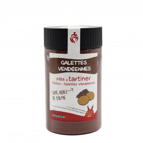 Pâte à tartiner Choco-Galettes Vendéennes 280gr sans huile de palme