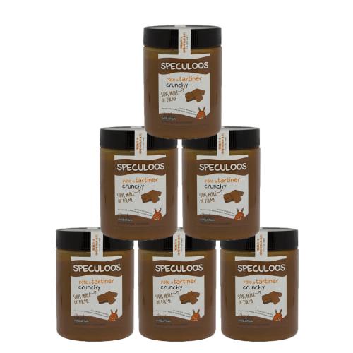 Pâte à tartiner Pack de 6 pots de 570g de Speculoos crunchy sans huile de palme