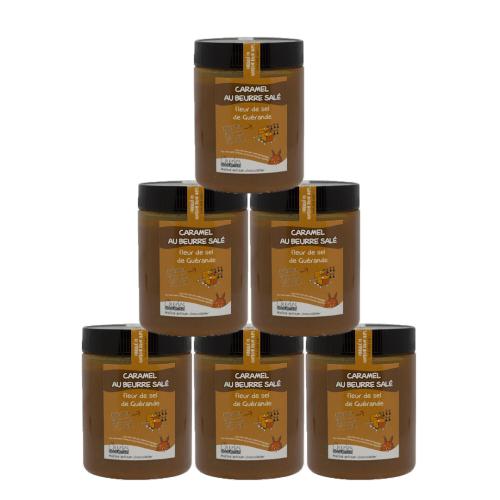 Pack de 6 pots de 570g de Caramel au beurre salé