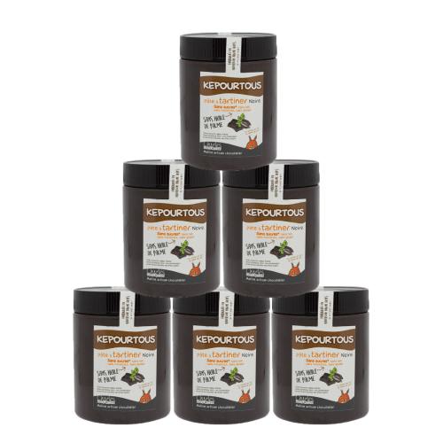 Pâte à tartiner Pack de 6 pots de 570g de Kepourtous sans huile de palme