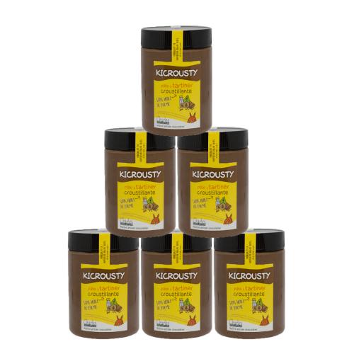 Pâte à tartiner Pack de 6 pots de 570g de Kicrousty sans huile de palme