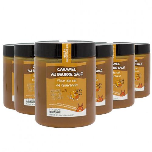 Pâte à tartiner Pack de 6 pots de 570g de Caramel au beurre salé sans huile de palme