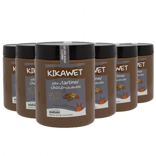 Pâte à tartiner Pack de 6 pots de 570g de Kikawet sans huile de palme