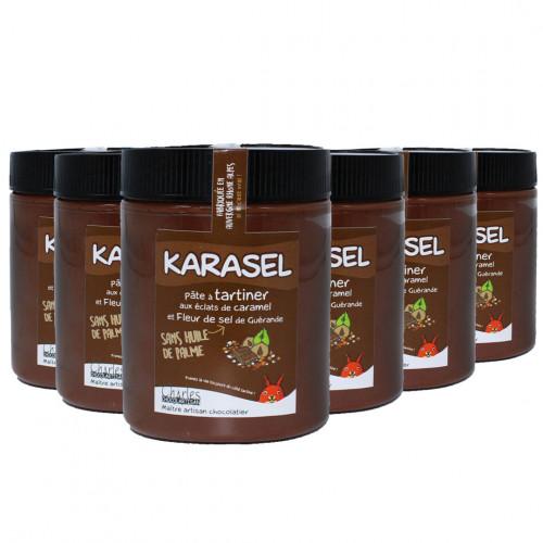 Pâte à tartiner Pack de 6 pots de 570g Karasel sans huile de palme