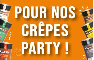 Pour nos crêpes party !